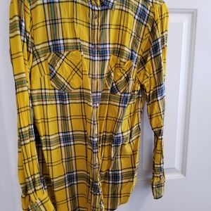 Mustard plaid shirt
